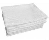 Рушник вафельний кухонний білий