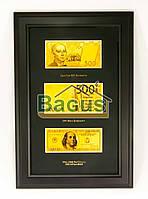 Золотая купюра 500 EURO 100$ 500грн. в рамке GOLDEN (016 HB)
