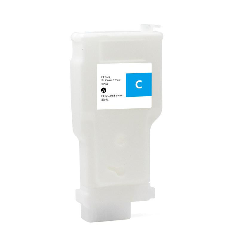 Перезаправляемый картридж Ocbestjet для плотерів Canon TM-200/300 з чіпом PFI-120/320 Cyan (300 мл)