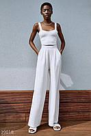 Широкие белые брюки S,M,L