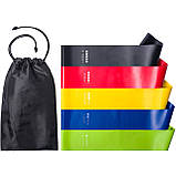 Резинка для фитнеса и спорта Esonstyle (эластичная лента) набор 5 шт + Чехол в комплекте, фото 5