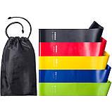 Набор резинок для фитнеса Esonstyle 5шт в комплекте в удобном мешочке, фото 4