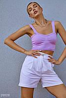 Белые шорты из льна S M L XL