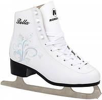 Коньки фигурные женские Nordway BELLA Figure ice skates белый/серебро/голубой (BELLA-WBL)