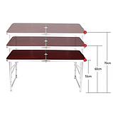 Стол для пикника с 4 стульями раскладной Стіл для пікніка 120х60х55/60/70 см, фото 2