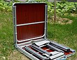 Стол для пикника с 4 стульями раскладной Стіл для пікніка 120х60х55/60/70 см, фото 5