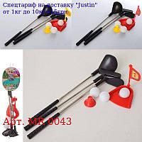 Гольф MR 0043 лунка,  ключки 3шт 27см (метал),  м'ячики 3шт 2, 5 см,  3віда,  в сітці,  30-7-6см