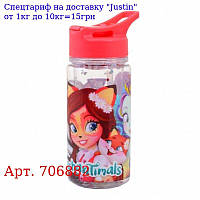 """Пляшка для води YES з блискітками """"Enchantimals"""",  280 мл"""