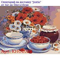 """Набор для росписи по номерам, Букеты """"Приглашение на чай"""" 40х50см"""
