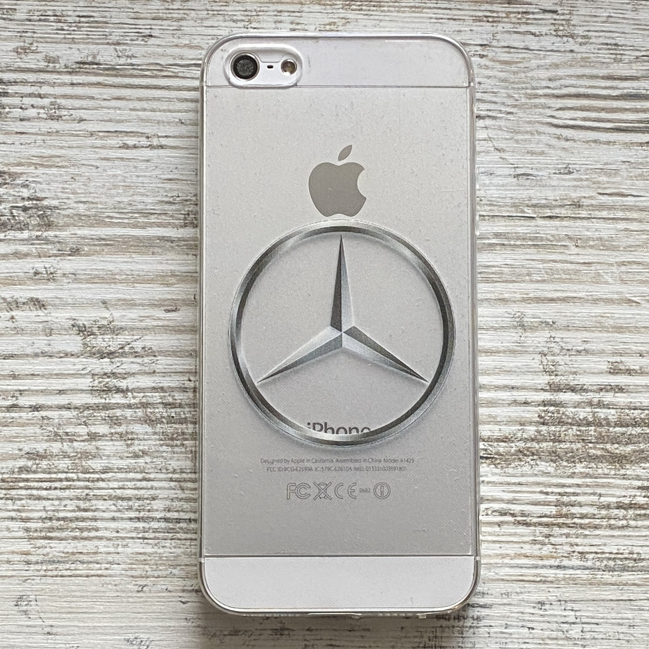 Силиконовый чехол Mercedes для iPhone 5 5S SE