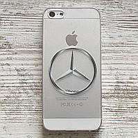 Силиконовый чехол Mercedes для iPhone 5 5S SE, фото 1