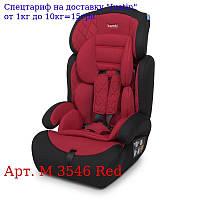 Автокресло детское M 3546 Red 2в1,  группа1-2-3 (9-36кг),  регул, подголов,  черн-красн