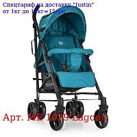 Коляска детская ME 1029 BREEZE Lagoon прогулочная,  трость,  колеса4шт,  Бирюза