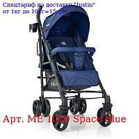 Коляска детская ME одна тысяча двадцать девять BREEZE Space Blue прогулочная,  трость,  колеса4шт,  Синий