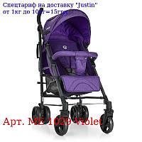 Коляска детская ME 1029 BREEZE Violet прогулочная,  трость,  колеса4шт, фиолет