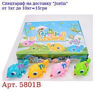 Заводна іграшка 5801B хамелеон11см,  подвіж, глаза,  12шт (4цвета) в дисплеї,  32, 5-27, 5-7см