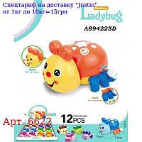 Заводна іграшка 6622 жук,  8см,  їздить,  подв, деталі,  12шт (6 кольорів) в дисплеї,  36-25, 5-6см
