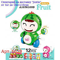 Заводна іграшка 6629 фігурка (фрукт / ягода),  9, 5 см,  їздить,  12шт (6від) в дисплеї,  28-18, 5-10см