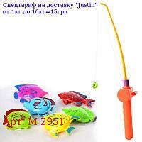 Риболовля M 2 951 вудка з магнітом 30см,  рибки 6шт,  в кульку,  11-30-4см