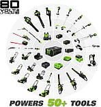 Аккумуляторный бесщеточный культиватор Greenworks Pro 80 V с АКБ 2Ah и ЗУ TL80L210, фото 9