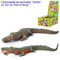 Тварина A107-DB крокодил,  16см,  100шт (кольори) в дисплеї,  28-21-12, 5см