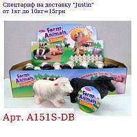 Тварина A151S-DB овечка,  11см,  12шт (2цвета) в дисплеї,  32-18, 5-7, 5см