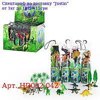HU Тварини HD 002-042 5 видів,  24шт в дисплеї,  32-22-21, 5см