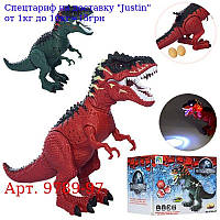 Динозавр 9789-97 45см,  несе яйця,  їздить,  проектор,  зв,  св,  2цв,  на бат,  в кор-ке,  41-13, 5-12, 5см
