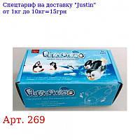 Пінгвін 269 2шт (12см,  5 см),  1шт - на бат-ке,  плаває,  в кор-ке,  14, 5-8, 5-6см