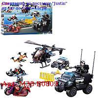 Конструктор SLUBAN M38-B0809 поліція,  транспорт,  фігурки,  469дет,  в кор-ке,  47, 5-28, 5-7см