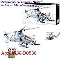 Конструктор SLUBAN M38-B0838 вертоліт,  42, 3см,  фігурка,  482дет,  в кор-ке,  47-28, 5-7см