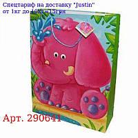 """Пакет 32 * 26 * 10 """"Слоненя,  тигреня,  ведмедик"""""""