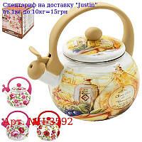 Чайник эмаль со свистком 2, 2л MH-3592