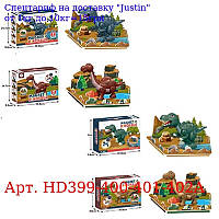 Конструктор HD399-400-401-402A магнітний,  динозавр,  ігрове поле,  4віда,  в кор-ке,  33-25-10см