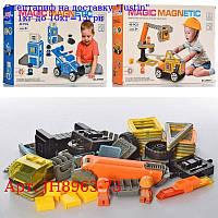 Конструктор JH8963-73 магнітний,  фігурка,  40дет,  2віда (поліція,  будтехніка),  в кор-ке,  38-28-7, 5см