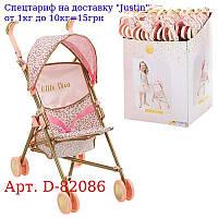 Коляска D-82086 для ляльки,  42-27-57см,  прогулянкова,  козирок,  кошик кол, 8шт,  12шт в дисплеї