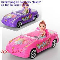 Лялька 5577 з машинкою (інер-я,  24см),  10см,  2 види,  в кульку,  24-11-7, 5см