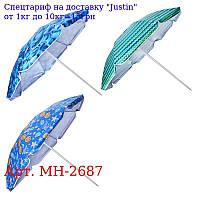 Зонт пляжный ромашка d1, 8м серебро