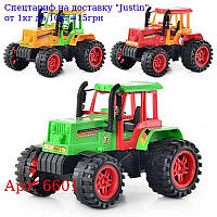 Трактор 6601 інер-й,  3 кольори,  в кульку,  19-14-12см