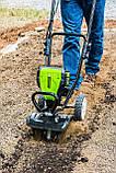 Аккумуляторный бесщеточный культиватор Greenworks Pro 80 V с АКБ 2Ah и ЗУ TL80L210, фото 3