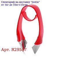 Нож кухонный для удаления хвостиков / сердцевины фруктов / овощей 10 * 6, 5см R29587