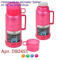 Термос пластиковый со стеклянной колбой 1, 0л DB245T