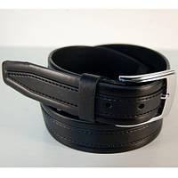 6205 Ремень мужской кожаный классика чёрный