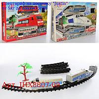 ЖД JHX8807-09 локомотив 2шт,  19см,  15дет,  звук,  світло,  їздить,  2в,  на бат-ке,  в кор-ке,  36-25-6, 5см