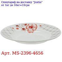 "Тарелка суповая эмаль 9 ""(22, 9см) 6шт / наб"" Клетка ""MS-2396-4656 (6наб)"