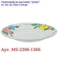 """Тарелка суповая эмаль 9 """"(22, 9см) 6шт / наб"""" Лилии """"MS-2396-1366 (6наб)"""