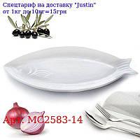 """Сервировочное блюдо фарфор """"Рыбка"""" 14 """""""