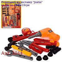 Набір інструментів 2944 дриль,  плоскогубці,  молоток,  ключі,  ніж,  на аркуші,  31, 5-43, 5-4см
