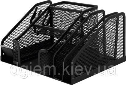Прибор настольный BUROMAX металлический черный
