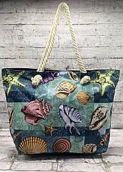 """Пляжна сумка """"starfish""""з канатними ручками Колір: Чорний"""